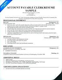 Accounting Clerk Sample Resume Mmventures Co