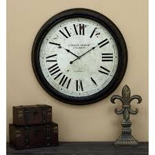astonishing 24 wall clock the outdoor lighted atomic hammacher schlemmer