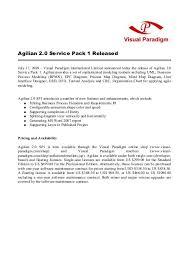 Agilian 2 0 Service Pack 1 Released Visual Paradigm