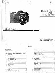 ricoh xr camera repair manual