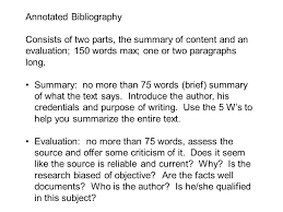 Annotated Bibliography   National History Day   NHD SlideShare APA Annotated Bibliography Example