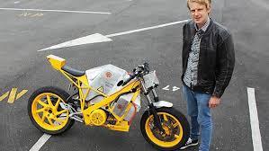simple electric motor design. Beautiful Simple Electric Motorcycle Designer Henry Harvey With His R142 Road Bike Intended Simple Motor Design