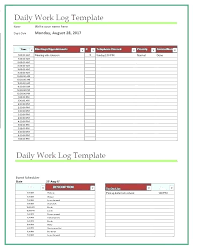 Employee Daily Activity Log Daily Log Template Opfund Co