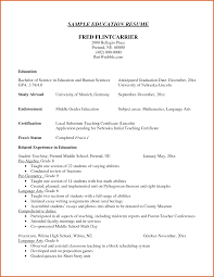 Formidable Resume Examples Education Section High School with Education  Section Of Resume High School