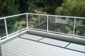 glass decks surface mount single top clear glass rail g glass deck railing systems home depot