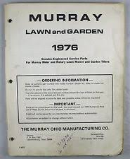 murray outdoor power equipment manuals guides murray 1976 rider rotary lawn mower garden tiller parts catalog
