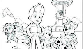 Paw Patrol Coloring Sheets Pages Rocky Colouring Rubble Chase To