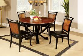round kitchen table and chairs with leaf