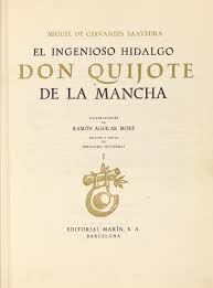 iconography of don quixote 1961 barcelona editorial marin el ingenioso hidalgo don quijote de la