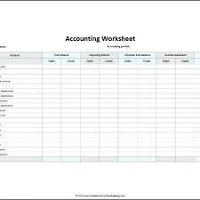 Accounting Worksheet Example Column Accounting Worksheet Template 6 Printable 10 Exa