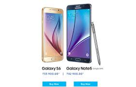 samsung galaxy phone png. samsung galaxy s6 and note 5 available for a down payment of rs. 1 phone png