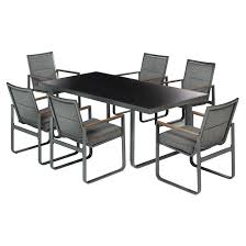 beverly hills patio dining set grey 13 pieces