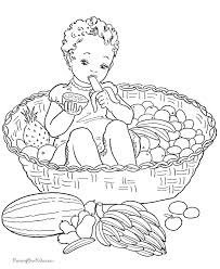 Small Picture Fruit basket for kid to print and color Coloring Pages