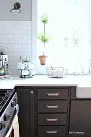 black cabinet pulls on gray cabinets. kitchen cabinet colors - before \u0026 after black pulls on gray cabinets b