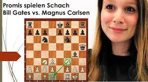 Promis spielen Schach #1 || Bill Gates vs. Magnus Carlsen - YouTube
