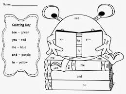 Small Picture Get The October Sight Word Coloring Sheet Freebie Over Our Tpt