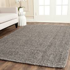 safavieh natural fiber collection nf447g handmade light grey jute area rug 8 fe