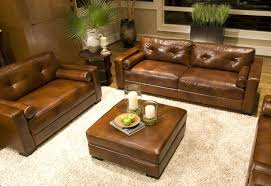 furniture inspiring living ideas with leather sofa brown ott white flokati rugs and ikea side table