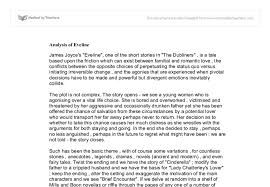 analysis of eveline a level english marked by teachers com document image preview
