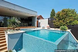 infinity pool edge. Modern Pool Design With Doublesided Infinity Edge Completehome