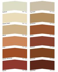 Coloured Sealer Roof Coatings Colour Chart Concrete