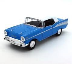 1957 Chevrolet Bel Air in a White 138 Scale Diecast Pull Back ...