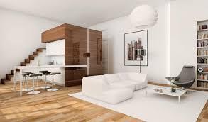 Studio Apartment Bed 45 Sqm Modern Studio Apartment Design Idea With Mezzanine Bed Plan