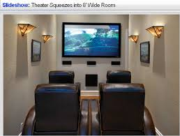 Very small media room-I do like it