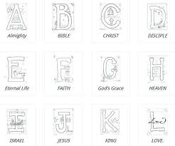 Alphabet Coloring Pages Az Free Bible Pdf Homeschool And