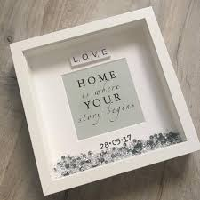 Box Picture Frame New Home Box Frame New Home Gift New House Gift New Home Frame New Home Housewarming Gift