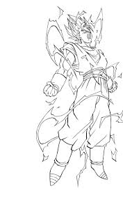 Des Sports Coloriage Sangoku Coloriage Sangoku Super Sayen 4