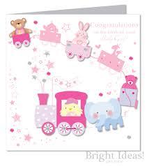Baby Girl Birth Card Congratulations Large
