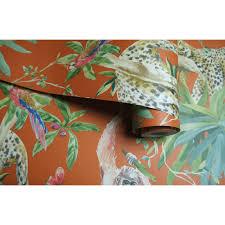 Jungle Heat Map Design 90692 Holden Decor Jungle Animals Silver Wallpaper Doe Het