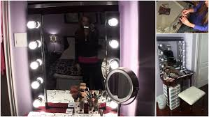 diy build your own hollywood vanity mirror easy affordable youtube build easy diy lighting