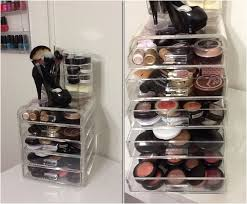 clear lucite makeup organizer