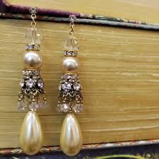 limited edition pearl chandelier earring sa green s sea glass jewelry vintage reion jewelry costume jewelry pashmina scarves