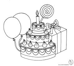 Disegno Di Torta Compleanno Con Lecca Lecca Da Colorare Per Bambini