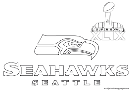 Small Picture Free Printable Coloring Seattle Seahawks Coloring Pages 43 On