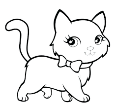 Cat Coloring Pages Cats Free Printable Big Realistic