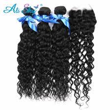 <b>Alisky Hair</b> Peruvian <b>Water</b> Wave Remy <b>Hair</b> 3 Bundles with 13X4 ...