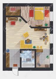 Kitchen Floor Plan Designer Apartment Or Flat House Or Floor Plan Design Top View Planning