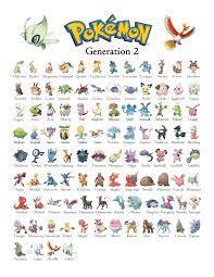 Pokemon Gen 2 - Generation 2 Chart in 2021 | Pokemon, Pokemon poster,  Pokemon pokedex