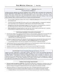 It Director Sample Resume Sample It Resume It Resume Writing Services