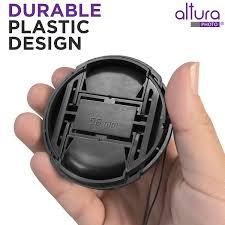 Lens Cap Design 2 Pack 58mm Snap On Center Pinch Lens Cap With Holder Leash Camera Lens Protection Cover For 58mm Threaded Lenses
