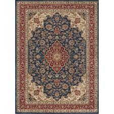 8 x 11 large navy blue and red area rug sensation rc willey furniture