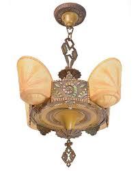 produced by williamson co chicago s premium lighting supplier in the 1930s this chandelier