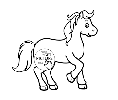 Small Picture horse cartoon animals coloring pages for kids printable free