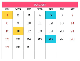 Excel Perpetual Calendar Template Any Year For Monthly Printa
