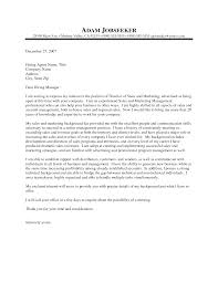 Sample Cover Letter For Sales Manager Leading Professional