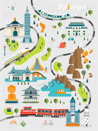 Map Design Lovely Taiwan Travel Map Design In Flat Style